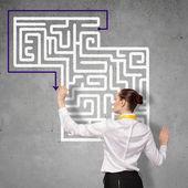 Podnikatelka hledání řešení! — Stock fotografie