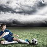 Young football champion — Stock Photo #75472639