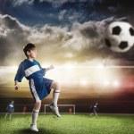 Young football champion — Stock Photo #75473183