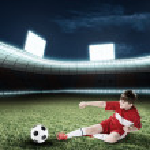 Young football champion — Stock Photo #75473585