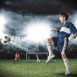 Young football champion — Stock Photo #75476493