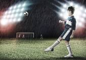 Young football champion — Stock Photo