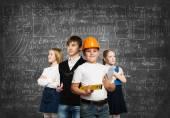 Children choosing future profession — Stock Photo