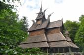 Aske'de - Ahşap Çıta church yanında bergen, Norveç — Stok fotoğraf