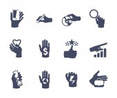 Hands icon set for website or application. Flat design — Stock Vector