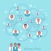 Business network. Concept illustration of management, organizati — Stock Vector