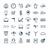 Business people icons. Management, human resources, marketing, e — ストックベクタ