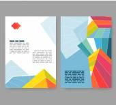 Panfleto, folheto, layout do livreto. Modelo de design editável. A4 2-f — Vetor de Stock