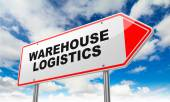 Warehouse Logistics on Red Road Sign. — ストック写真