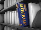 Data Backup - Title of Book. — Stock Photo