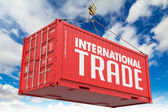 International Trade on Red Container. — ストック写真
