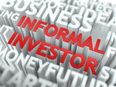 Informal Investor - Red Wordcloud Concept. — Stock Photo