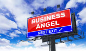 Business Angel on Red Billboard. — 图库照片
