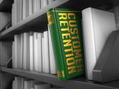 Customer Retention - Title of Book. — Stock Photo