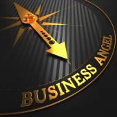 Business Angel - Golden Compass Needle. — Stock Photo