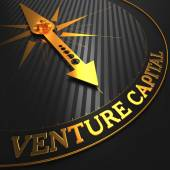 Venture Capital - Golden Compass Needle. — Stock Photo