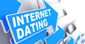 Internet Dating on Blue Arrow. — Foto Stock