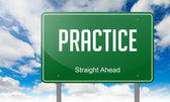 Practice on Green Highway Signpost. — Stock Photo