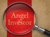 Angel Investor Through a Magnifying Glass — Stock Photo