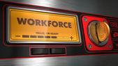 Workforce on Display of Vending Machine. — Stock Photo