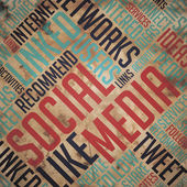 Social Media - Grunge Word Cloud Concept. — Stock Photo