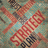 Strategy - Grunge Word Cloud Concept. — Stock Photo