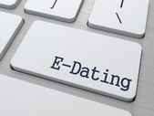 E-Dating on Keyboard Button. — Stock Photo