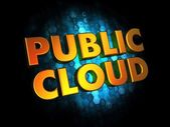 Offentliga cloud koncept på digital bakgrund. — Stockfoto
