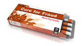 Cure for Fraud - Blister Pack Tablets. — Stock Photo