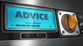 Advice on Display of Vending Machine. — Stock Photo