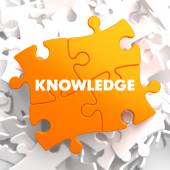 Knowledge on Orange Puzzle. — Stock Photo