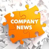 Company News on Orange Puzzle. — Photo