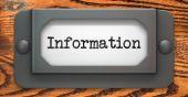 Information Concept on Label Holder. — Stock Photo