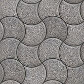 Gray Paving Stone in Wavy Form. — Stock Photo