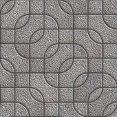 Grey Figured Granulated Pavement Slabs. — Stockfoto
