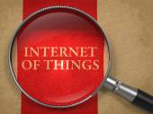 Internet of Things through Magnifying Glass. — Stock Photo