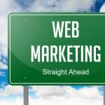 Web Marketing on Highway Signpost. — Stock Photo #53945537