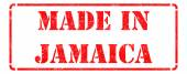 Made in Jamaica on Red Stamp. — ストック写真