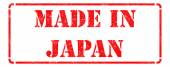 Made in Japan on Red Stamp. — Stock Photo