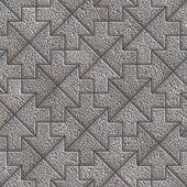 Gray Granular Mosaic Paving Slabs. — Stock Photo