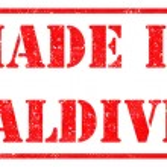 Постер, плакат: Made in Maldives on Red Stamp