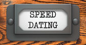 Speed Dating - Concept on Label Holder. — Stock Photo