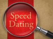 Speed Dating through Magnifying Glass. — Stock Photo