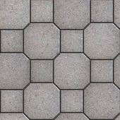 Gray Square and Octagon Paving Slabs. — Stock Photo