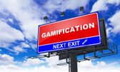 Gamification Inscription on Red Billboard. — Stock Photo