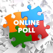 Online Poll on Multicolor Puzzle. — Foto Stock