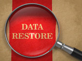 Data Restore through Magnifying Glass. — Stock Photo