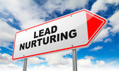 Lead Nurturing on Red Road Sign. — Stock Photo