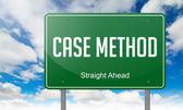 Case Method on Highway Signpost. — Stock Photo