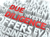 Due Diligence - Wordcloud Concept. — Stock Photo